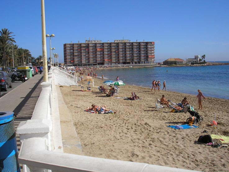 Torrevieja Beach - Large image of Los Locos beach one of the many ...