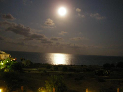 Moon Over Sea in Cabo Roig