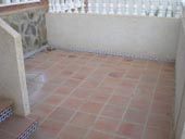 Tiled Front Patio