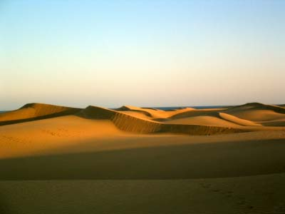The Sand Dunes at Maspalomas Gran Canaria