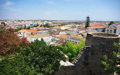 Panoramic View Over Tavira Algarve Portugal